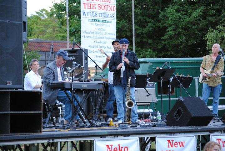On stage at Branford Jazz Fest, Branford, CT